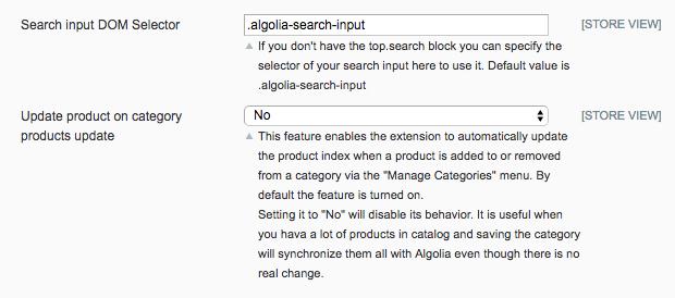 Algolia System Configuration