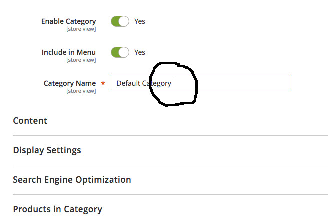 Magento2 Category Name Empty Space